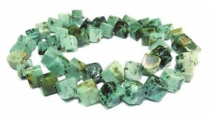 African Turquoise Beads 0 1/4in Cube(Eck-Gebohrt) Gemstone Beads Strand