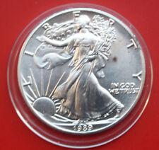 """Amerika: 1 Uz.-Oz """"Silver Eagle""""  1989 ST-BU,  #F 2043"""