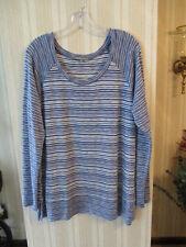 Womens EUC RETRO-ology XL Blue & White Stripe TunicTop