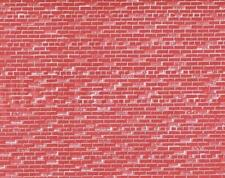 "JOHN RENDALL O SCALE RED BRICK WALL SHEETS Set of Three 7-1/2 x 10-1/2"", NEW!"