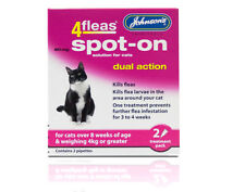 Johnson's 4Flea Spot on for cats - Dual Action (8 weeks of age & over 4kg)