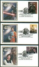 2007 STAR WARS 30th Anniversary ~ COLORANO CACHET FIRST DAY COVERS set/15