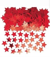 Metallic Stardust RED STARS CONFETTI 14g Amscan Celebration/Party FREE UP P&P