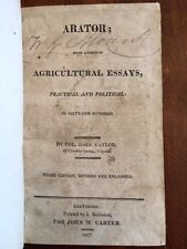 RARE 1817 Arator, Southern Agricultural Essays, Virginia, Baltimore Maryland imp