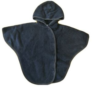 Mamas & Papas 18-24 months baby toddler towelling robe poncho hooded swim blue