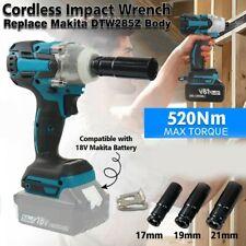 "Cordless Brushless Impact Wrench 1/2"" For Makita DTW285 18V 520 Nm Li-ion+Socket"