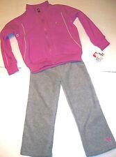 Puma Survêtement 4 ans filles rose gris sweat capuche polaire Tracks