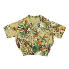 Vintage Graphic Popper Shirt   Medium   Aloha Pattern Hawaiian Festival Retro