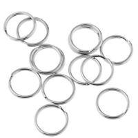200pcs 16mm Keychain Round Metal Split Key Ring Keyring Findings Wholesale