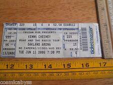Kenny Chesney concert ticket 2006