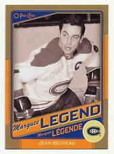 2012-13 O-Pee-Chee JEAN BELIVEAU Gold Marquee Legends #G7 Rare SP HOF OPC Hi BV