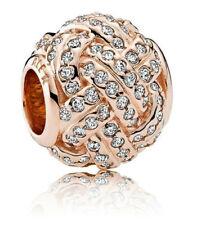Genuine Pandora Rose Gold Sparkling Love Knot Charm 781537CZ ALE R