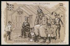 Kaiser WC chamber pot WWI ww1 war humor caricature propaganda old c1915 postcard