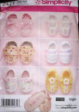 Simplicity Infants Babies Crib Shoes Felt Booties Pattern 2741 UNCUT