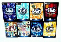 THE SIMS PC CD Inc Livin It Up, On Holiday, Hot Date, House Party 8 GAME BUNDLE