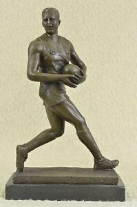 Genuine Bronze Sport Rugby World Cup Australian Player Sculpture Statue Artwork