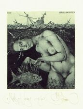 KALINOVICH - NETS OF LOVE - ORIGINAL EX LIBRIS