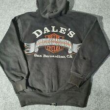 Vintage Harley Davidson Zip Up Hoodie Sweatshirt Mens Small Biker SIZE S