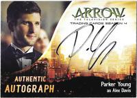 Cryptozoic Arrow 4 Auto Autograph Card Parker Young Alex Davis PY