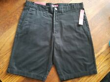 New with Tags! Merona 100% Cotton Men's Black Flat Front Shorts Size 32
