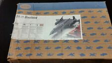 Testors SR-71 SR-71A Blackbird 1:48 Scale Model Kit 7584 - Open box, see desc