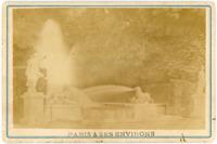 France, Versailles, Fontaine et bassin, ca.1880, vintage albumen print vintage a