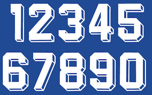 Vinyl 1980's 90's Football Shirt Soccer Numbers Heat Print Football Vintage 3