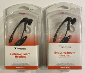 2 New Plantronics Headset for Cordless Phones Universal Model MX250  2.5mm Port