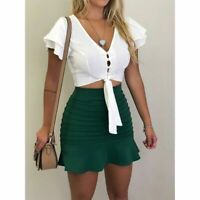 Blouse sleeveless shirt summer cami top tank top sexy casual crop top vest Women