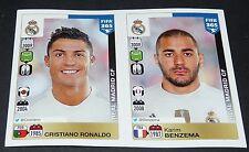 399 400 CHRISTIANO RONALDO CR7 BENZEMA REAL MADRID PANINI FOOTBALL FIFA 365 2015