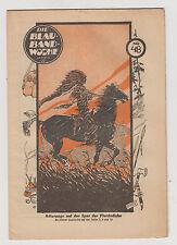 Blauband Woche 1926 - 1931 Emerich Huber Titelbild etwa 70 verschiedene Hefte