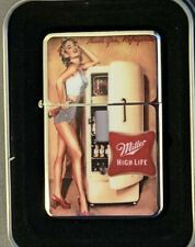 Pin Up Girl #2 Vintage Art Work Windproof Dual Flame Torch Ligh