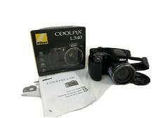 Nikon CoolPix L340 Digital Camera, Black, In Original Box