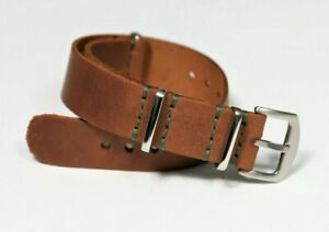 Mens leather watch strap 18 20 22 24mm Military watch band Handmade Personalized