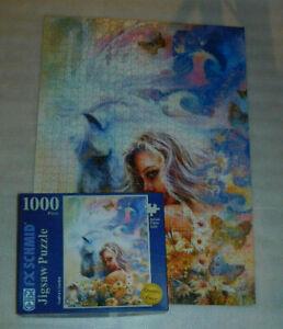 Godiva's Garden 1000 Jigsaw Puzzle FX Schmid Horse Butterfly Flowers Bird 2008