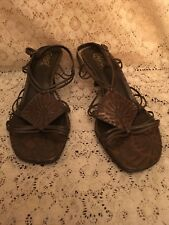 Carlos Santana Heeled Sandals Strappy Brown Size 8M