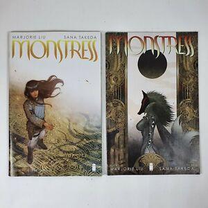 Monstress Issue 1 Second Print (VHTF) & Issue 2 Image Comics 2015 1st App Maika