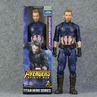 Marvel Infinity War Titan Hero Captain America Power FX Port Action Figures Toy