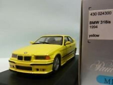 WOW EXTREMELY RARE BMW E36 1994 318iS #0 Yellow 1:43 Minichamps-635/323/M3/GTR