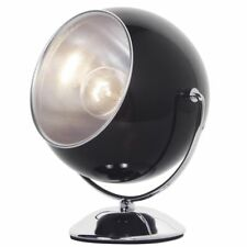 Glossy Black Table Lamp Eyeball Ocular Retro Adjustable Study Light Litecraft