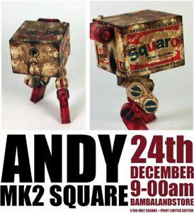 Ashley Wood 3A ThreeA 1/6 Andy Mk2 Square + Signed Print BNIB Warhol Brillo