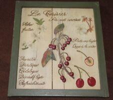 Provence shabby chic decor Herbarium decor framed Cherry decor provence style