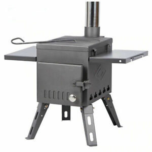 Portable bell tent Wood Burning Stove With Pipe Camping Heating Stove cooking