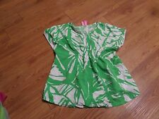 euc ladies  short sleeve lilly ppultizer fot target shirt-size 7/8-green& white