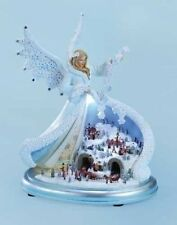 """Roman Musical 11"""" LED Angel with Town Scene Battery Operated Item# 32427 NIB"""