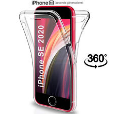 Cover Per Apple iPhone SE 2020 Fronte Retro 360 Custodia Silicone Trasparente