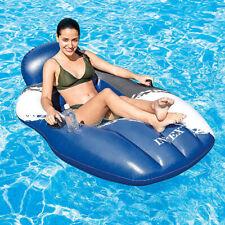 INTEX Floating Mesh Lounge Schwimmliege Luftmatratze Badeinsel + Getränkehalter