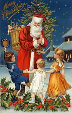 Christmas Santa Claus & children Oil Painting wall art HD printed on canvas L212