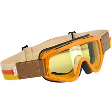 Biltwell Overland Goggles Yellow Brown Tan Cream old vintage classic style retro