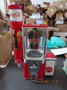 Vintage Coca Cola Hot Nut Vending Machine 10 Cent, Mint